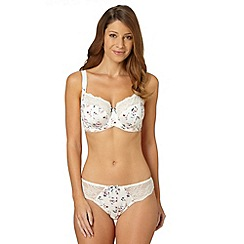 Gorgeous DD+ - Ivory floral full cup bra
