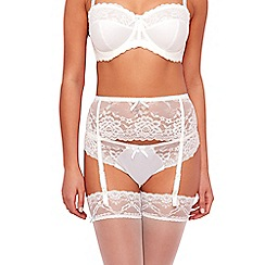 Gorgeous DD+ - Ivory lace suspender belt