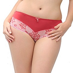 Curvy Kate - Red 'Temptress' lace full briefs