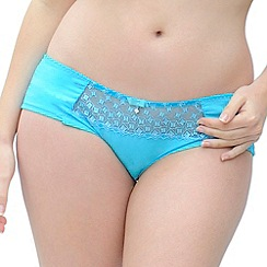 Curvy Kate - Turquoise 'Cascade' shorts