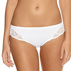 Fantasie - White 'Alex' embroidered briefs