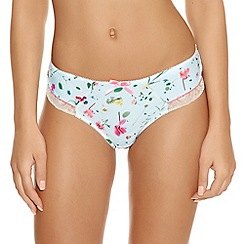 Freya - Pale blue 'Eden' floral briefs