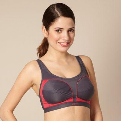 Grey sports bra