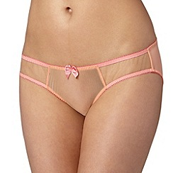 Claudette - Light orange mesh bikini briefs