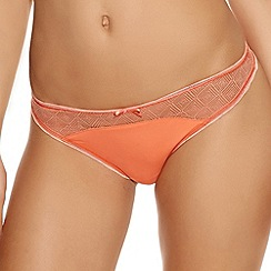 Freya - Dark peach 'Deco Vibe' brazilian briefs