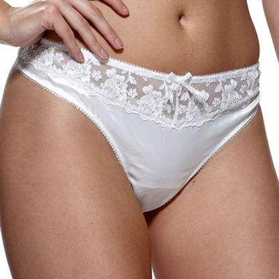 Charnos Online exclusive ivory ´belle´ bridal thong - . -