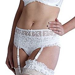 Charnos - Online exclusive ivory 'belle' bridal suspender belt
