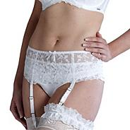 Online exclusive ivory 'belle' bridal suspender belt