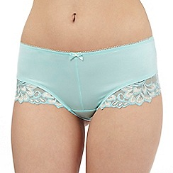 Gorgeous DD+ - Light turquoise lace trimmed briefs