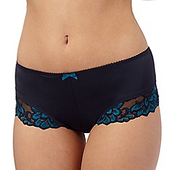 Gorgeous DD+ - Navy lace trimmed briefs