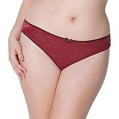 Curvy Kate - Red 'Ellace' Brazilian brief
