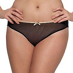 Curvy Kate - Black lace 'Ellace' Brazilian knickers