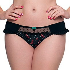 Curvy Kate - Black cherry printed briefs