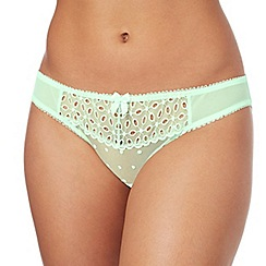 Gorgeous DD+ - Pale green embroidered 'Caitlyn' bikini knickers