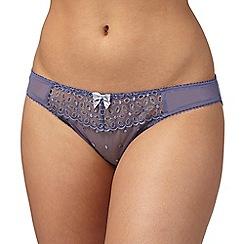 Gorgeous DD+ - Pale grey lace bikini briefs