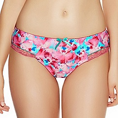 Freya - Pink 'Crush' orchid print briefs