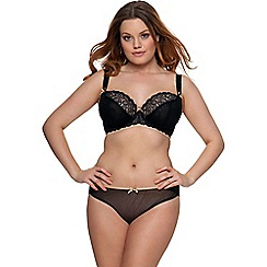 Curvy Kate - Black 'Ellace' balcony bra