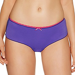 Freya - Purple 'Deco' shorts