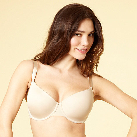 Gorgeous DD+ - Pack of two white and nude lace trim t-shirt bras