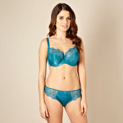 Turquoise full D-J cup non-padded bra