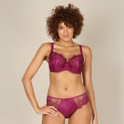 Plum embroidered DD-J full cup bra
