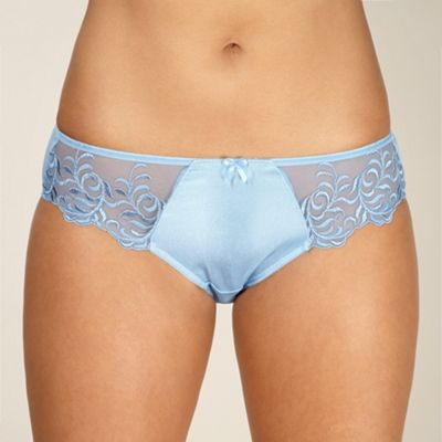 Blue embroidered briefs