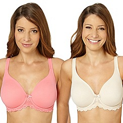 Gorgeous DD+ - Pack of two peach non padded t-shirt bras
