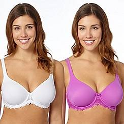Gorgeous DD+ - Pack of two purple non padded t-shirt bras