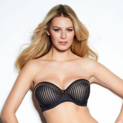 Black fuller bust  Taylor moulded strapless bra