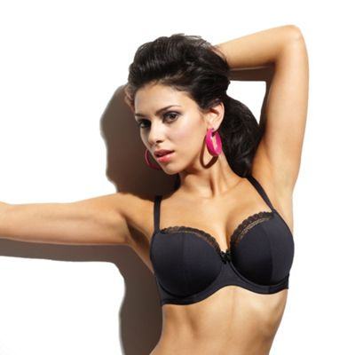 Black Juna balcony bra