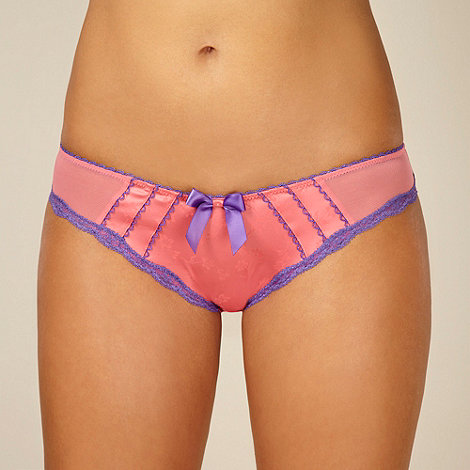 Gorgeous DD+ - Light pink floral jacquard briefs