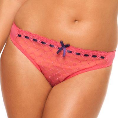 Dark pink Portia thong
