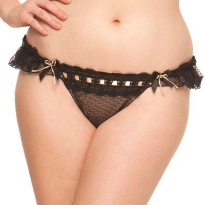 Curvy Kate Black ´Tease me´ frill thong - . -