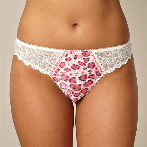 Gorgeous DD+ - Dark pink animal lace thong