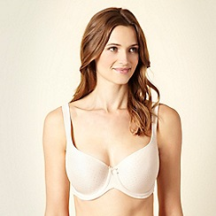Gorgeous DD+ - Natural spotted comfort balcony bra