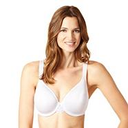 White lightweight t-shirt bra