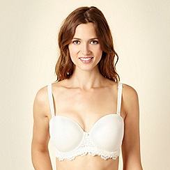 Gorgeous DD+ - Ivory lace multiway bra