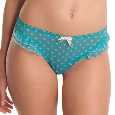 Turquoise Patsy thongs