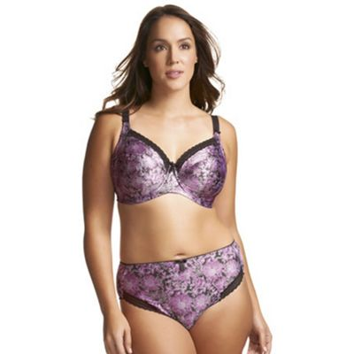 Lilac Libby underwire banded bra