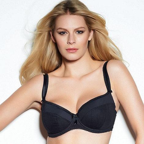 Freya - Black fuller bust padded plunge bra