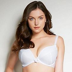 Freya - White fuller bust padded plunge bra
