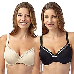 Gorgeous DD+ - Pack of two natural D-G t-shirt bras