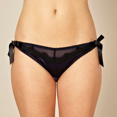 navy satin lace briefs