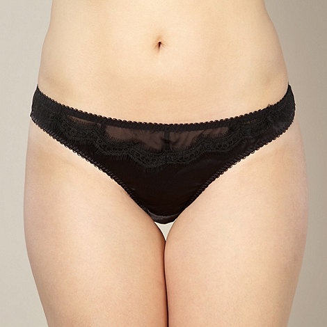 Gorgeous DD+ - Black satin lace thong