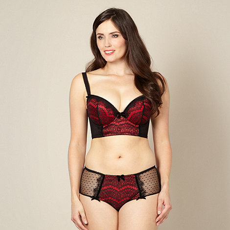Gorgeous DD+ - Red D-G cup longline lace bra