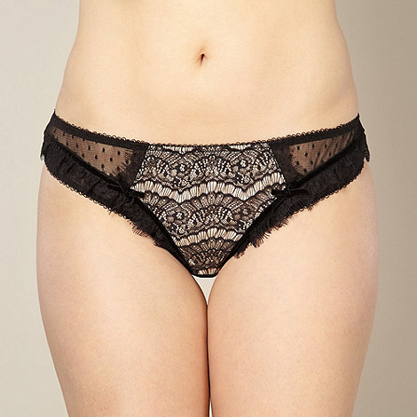 Gorgeous DD+ - Black lace front thong