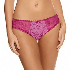 Fantasie - Dark pink 'Susanna' lace briefs