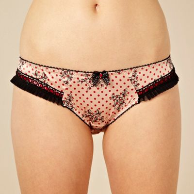 Natural floral spotted briefs
