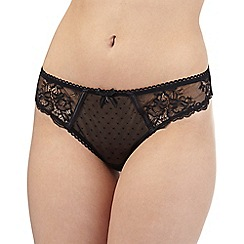 Gorgeous DD+ - Black floral lace thong