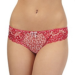 Gorgeous DD+ - Bright pink animal briefs